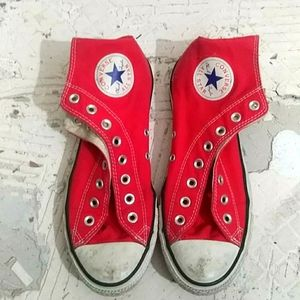 Red All Star chucks Converse Classic Shoes